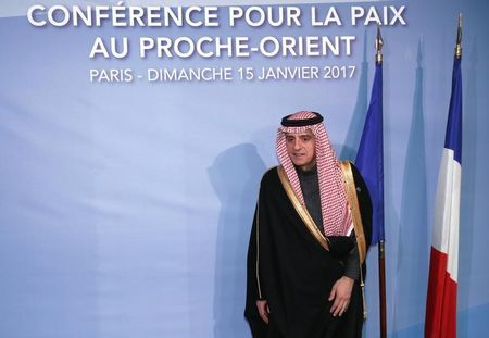 saudi foreign minister adel al jubeir arrives for the opening of the mideast peace conference in paris france january 15 2017 photo reuters