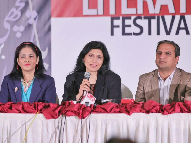 lok virsa executive director addresses a press conference on the festival on thursday photo express