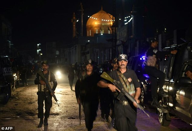 islamic state have claimed an attack on a sufi shrine in sehwan pakistan provoking a nationwide security clampdown photo afp