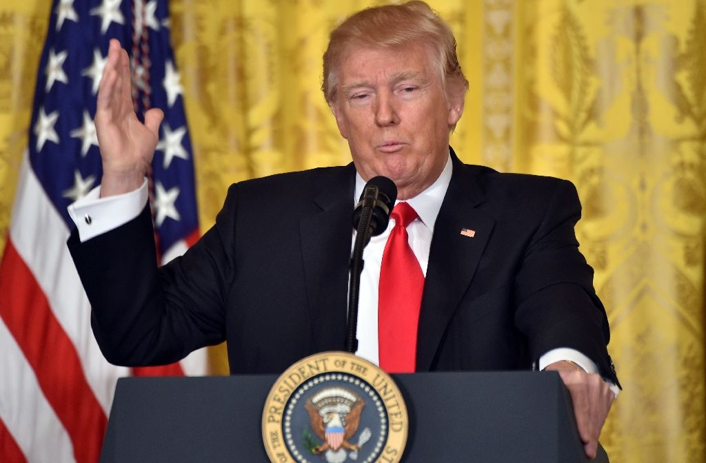 us president donald trump speaks during a news conference at the white house in washington us february 16 2017 photo afp