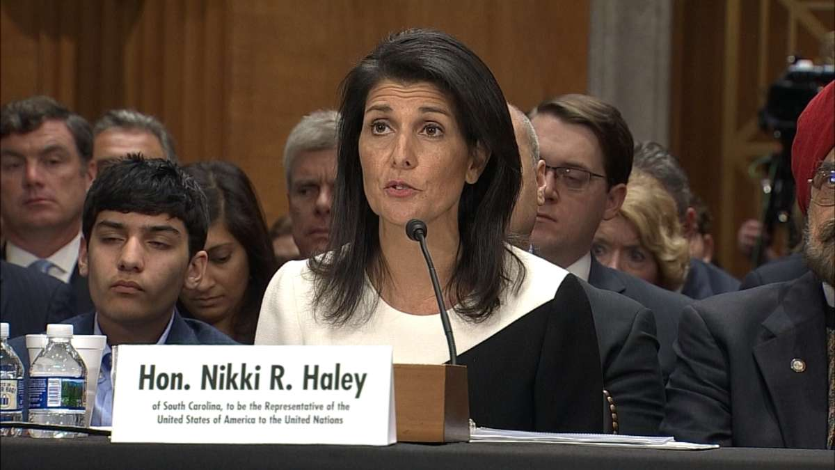haley 039 s comments came after trump said on wednesday that he was open to ideas beyond a two state solution photo reuters