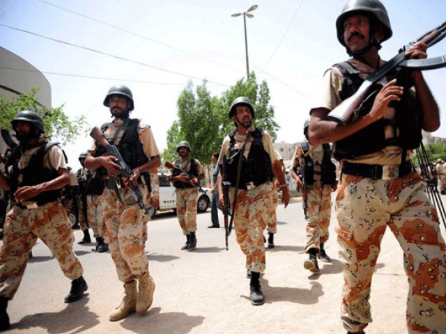a file photo of sindh rangers photo afp