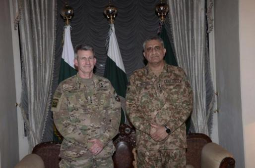 a file photo of army chief general qamar bajwa and general john nicholson photo file