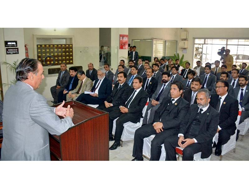 nab chief addressing officers in multan photo express