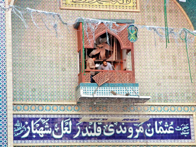 sehwan bleeds mourning the dead nursing the wounded