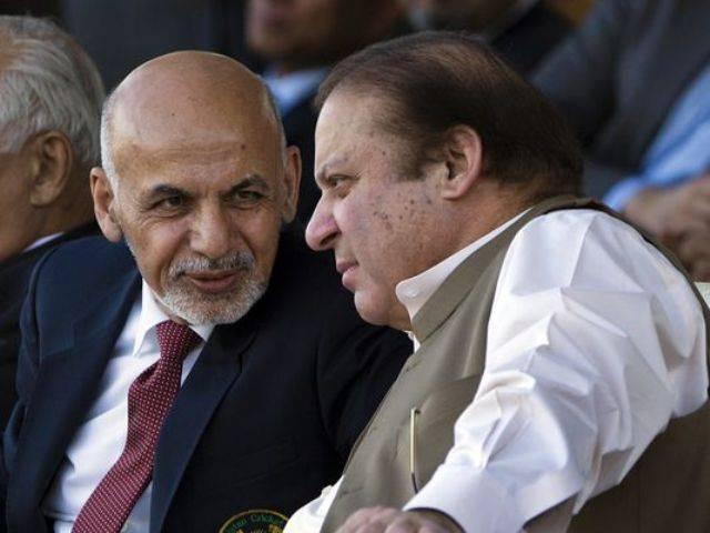afghan president ashraf ghani with prime minister nawaz sharif photo file