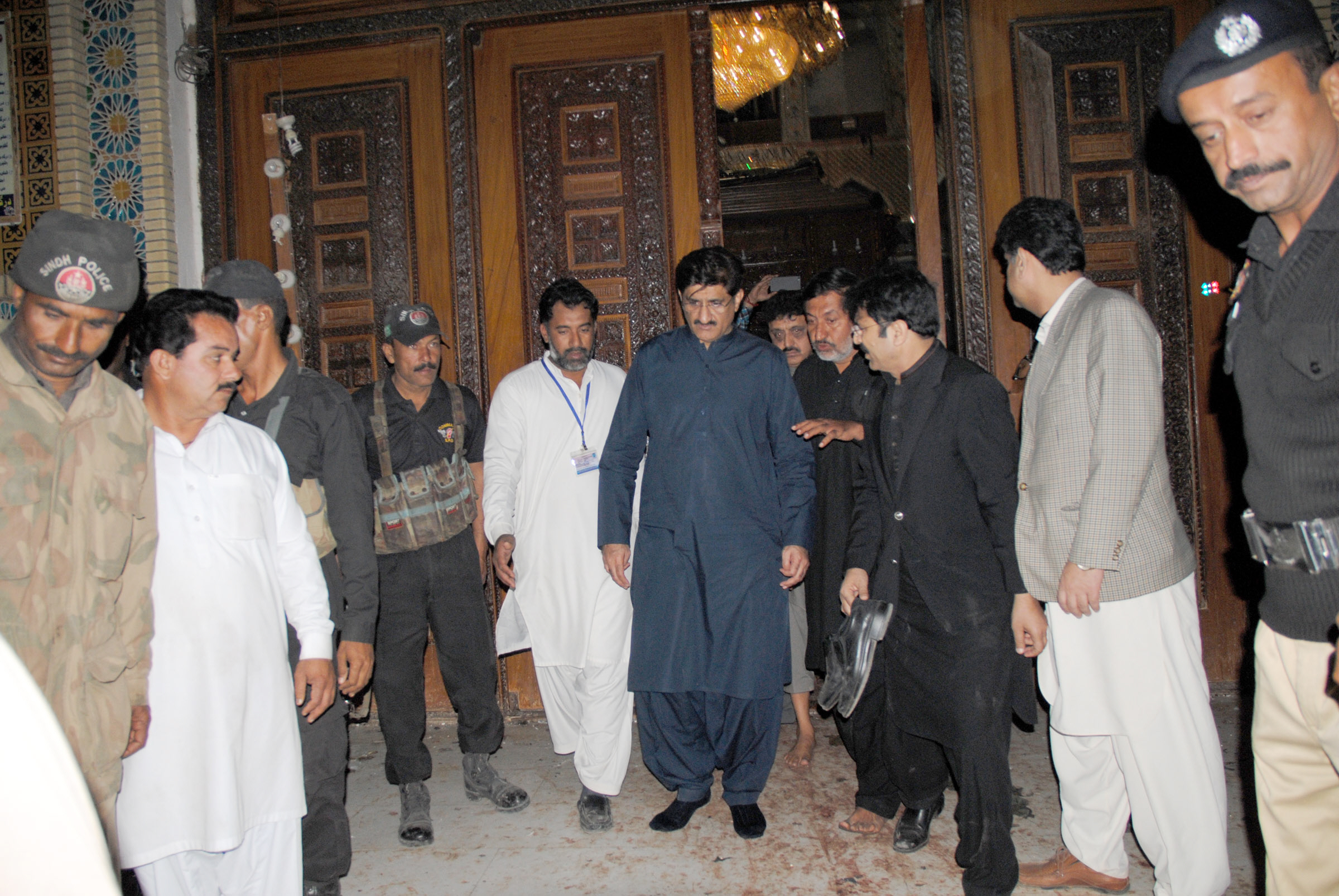 murad ali shah cautioned police to quot be alert active and efficient quot and that quot negligence will not be tolerated quot photo shahid ali express