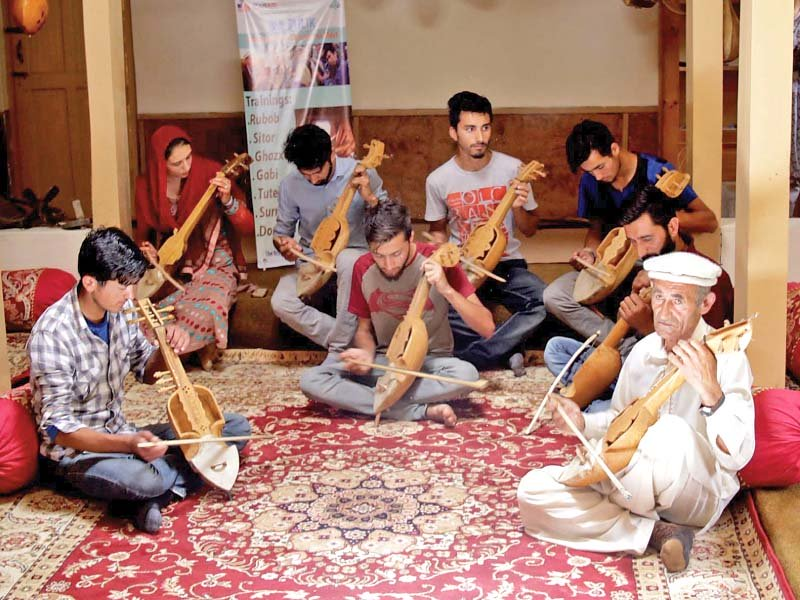 artists practise folk music at bulbulik heritage centre photo express