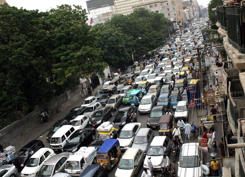 karachi wide heavy traffic banned from 6am to 11pm