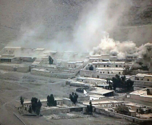 photo shows military shelling on terror hideouts inside afghanistan photo express