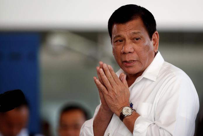 philippine president rodrigo duterte speaks during a news conference before he departs for a visit to thailand and malaysia at the ninoy aquino international airport in paranaque metro manila in the philippines photo reuters