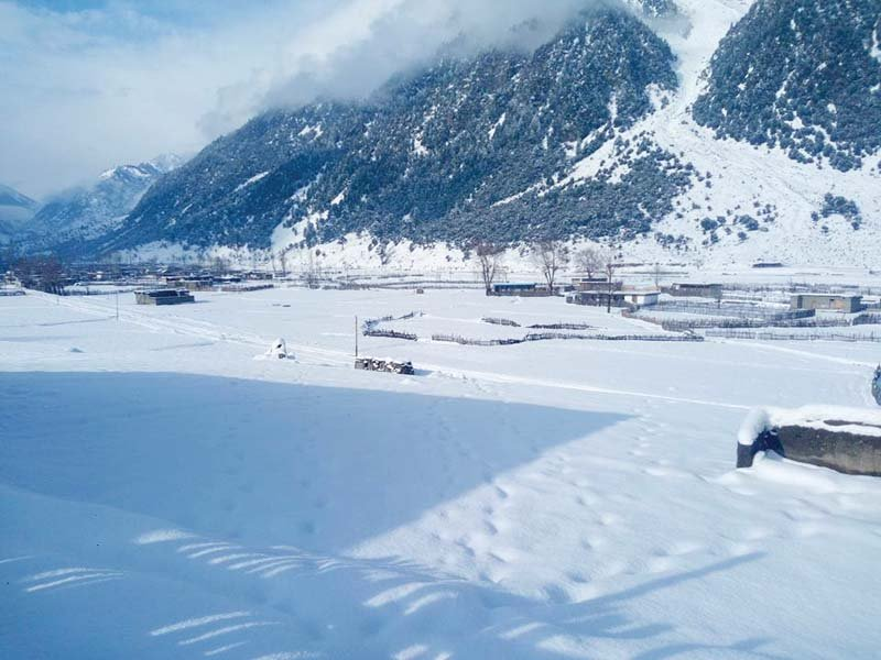 a view of the kalam valley covered in snow photo shehzad khan express