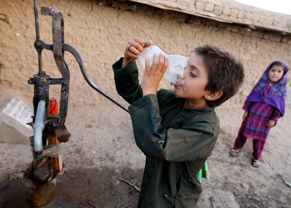 universal provision of potable water is a development essential poisoning the populace via careless neglect is not photo afp