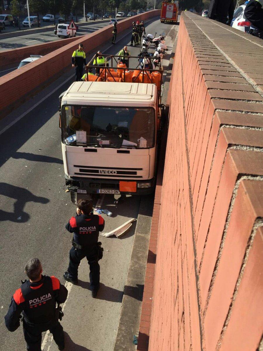 spanish police arrest man driving truck full of gas bottles