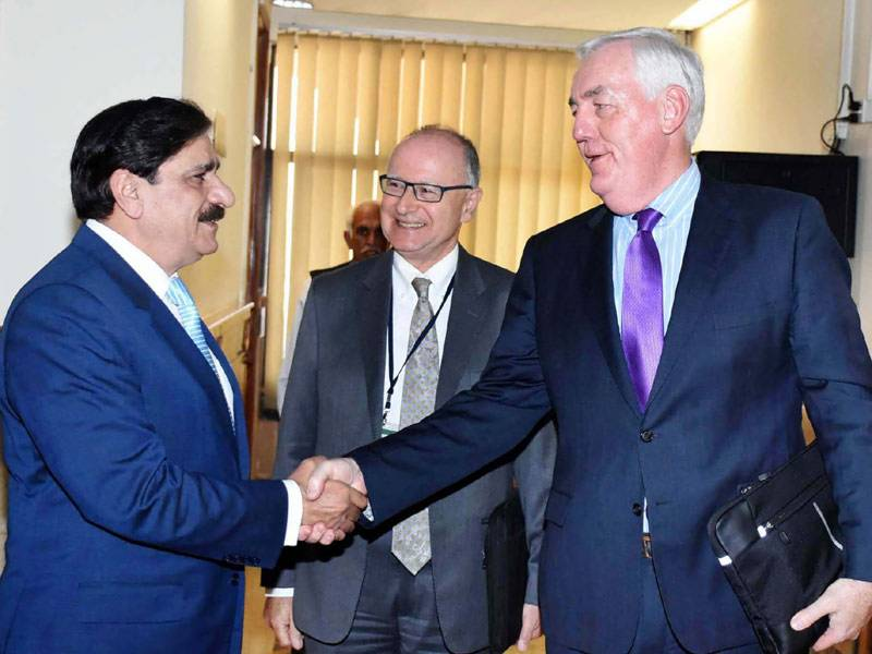 nsa nasser janjua meets australian ambassador for counte terrorism paul foley in islamabad on tuesday photo pid