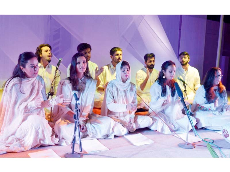 students perform on stage during indus valley and architecture conference organised by kennesaw state and indus school of art and architecture photo online