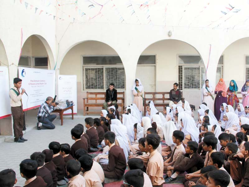 The project was born when ICI Pakistan Limited launched a reading project at the school to promote reading habits. PHOTO: AYESHA MIR/EXPRESS