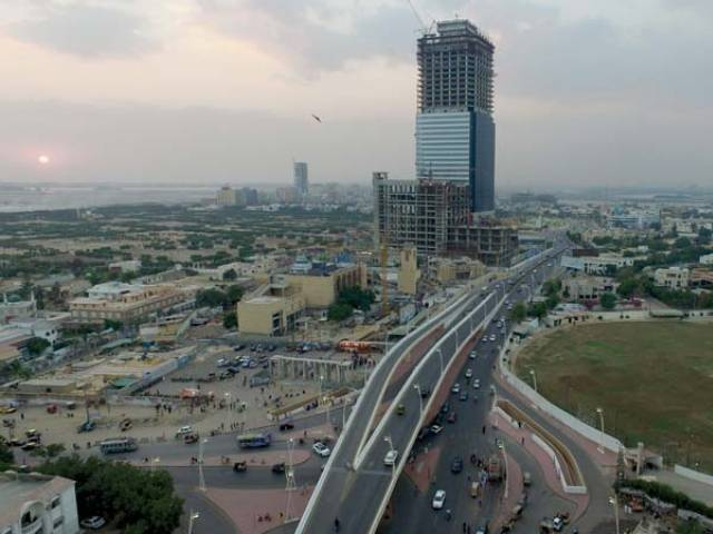 the report had proposed to lower property valuation rates for areas in karachi and faisalabad photo afp