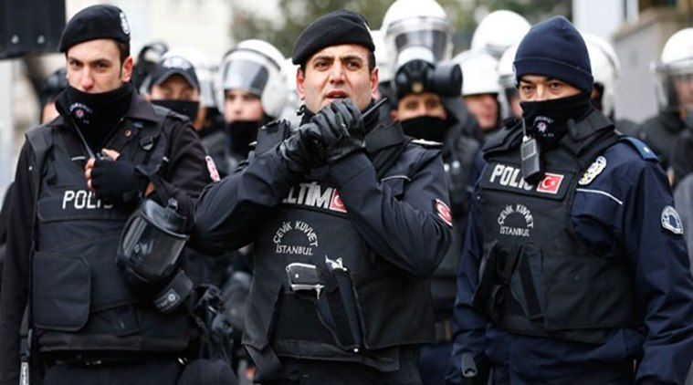 police carried out simultaneous raids in 41 locations across the city photo afp file