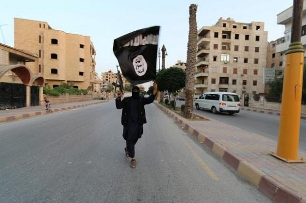 a member loyal to the islamic state waves an is flag photo reuters