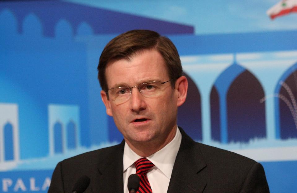 a file photo of david hale speaking during a press conference in baabda east of beirut on may 8 2009 photo afp