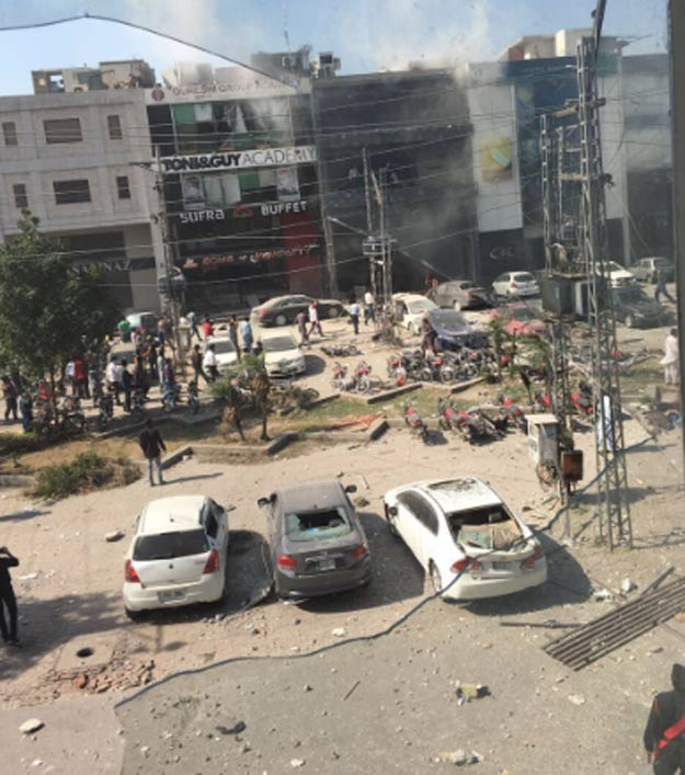 punjab police spokesperson says it was a bomb attack photo courtesy twitter ashes khan
