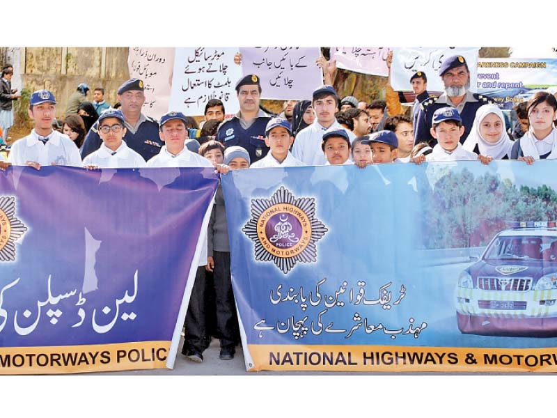 head nicon group of colleges aziz fatima naz commends nhmp for providing road safety awareness to students photo express