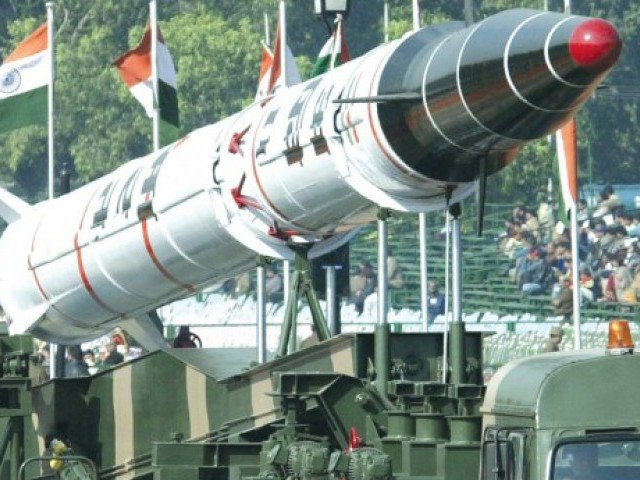 an agni ii intermediate range missile is paraded on india s annual republic day in january photo afp file
