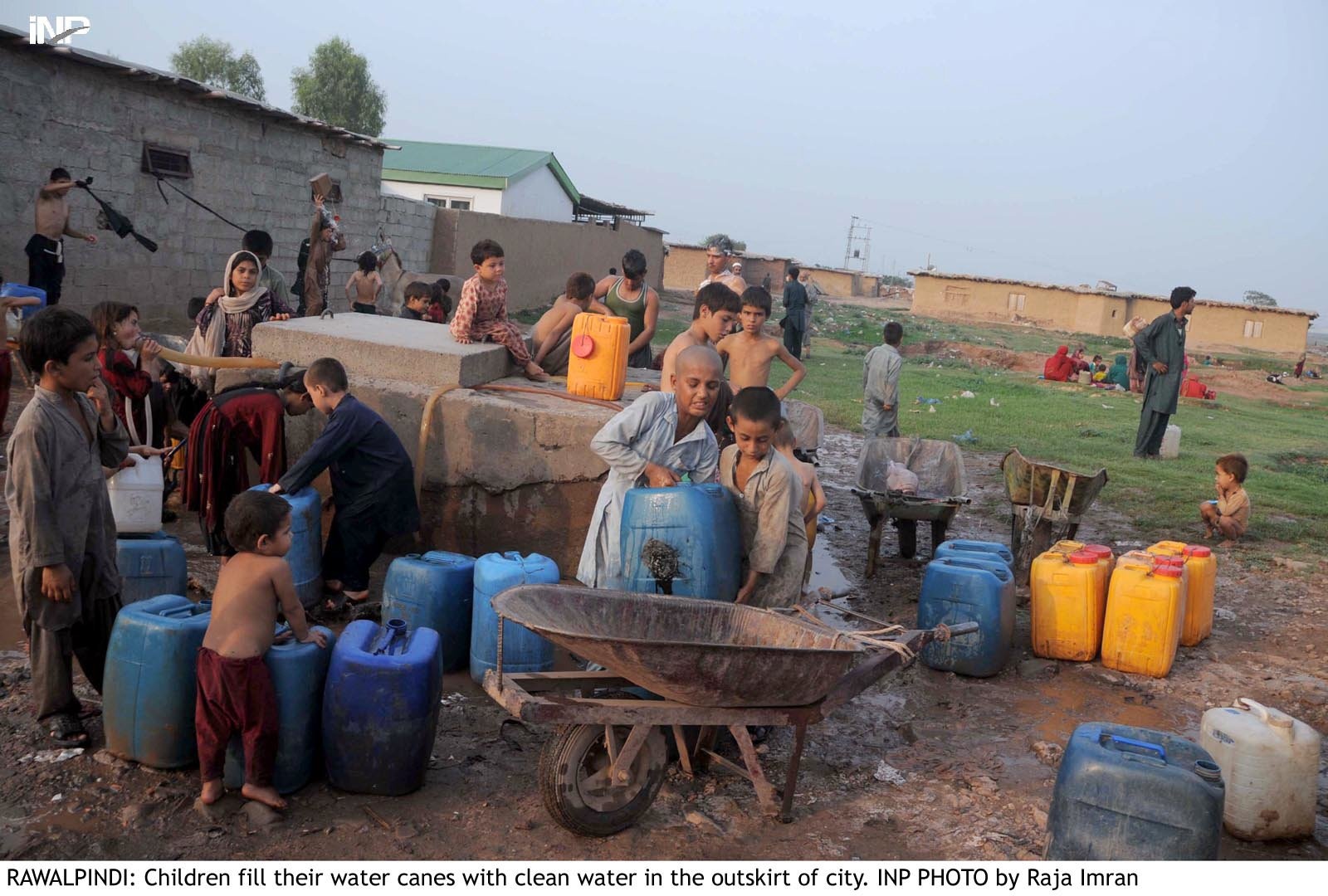 zafar said the khadim i punjab saaf pani programme aimed to provide safe potable water to people in cities and in far flung areas photo inp