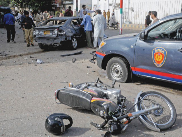 rescue 1122 report reveals use of mobile phones speeding major causes of accidents photo file