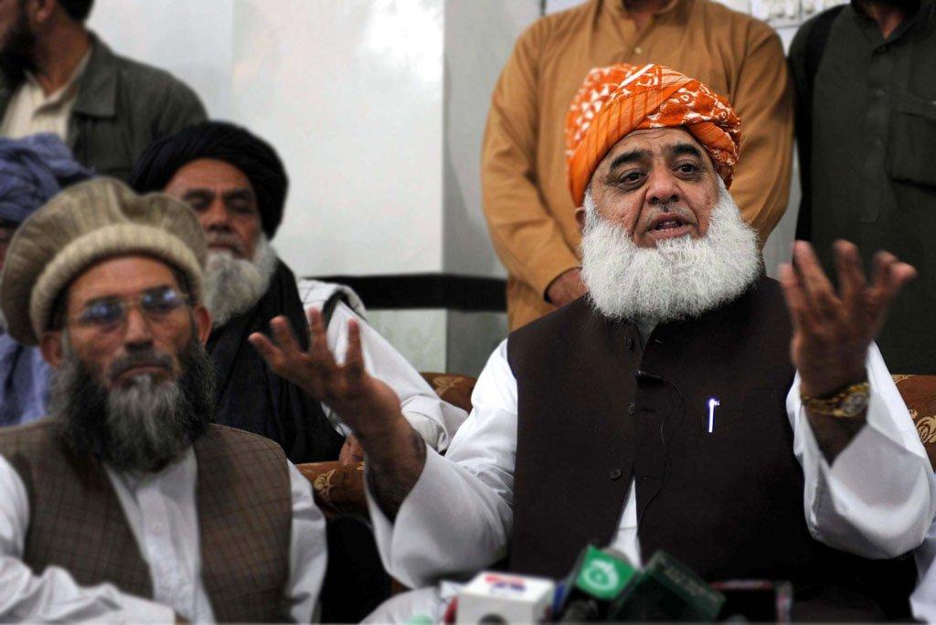 Jamiat Ulema-e-Islam-Fazl chief Maulana Fazlur Rehman. PHOTO: PPI
