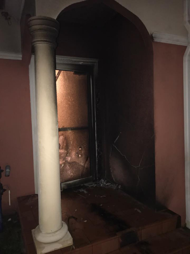 florida mosque set on fire
