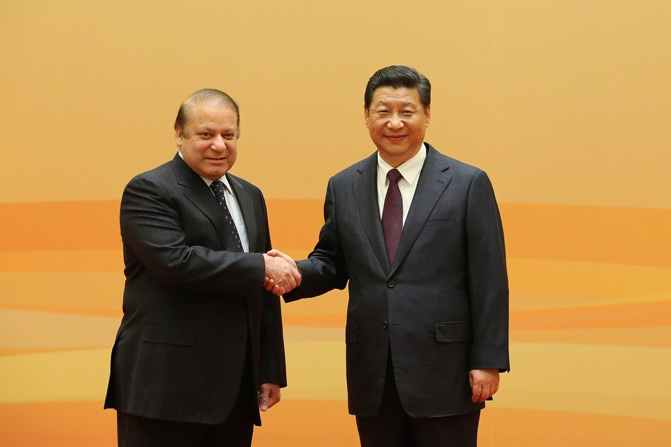 prime minister nawaz sharif with chinese president xi jinping photo reuters