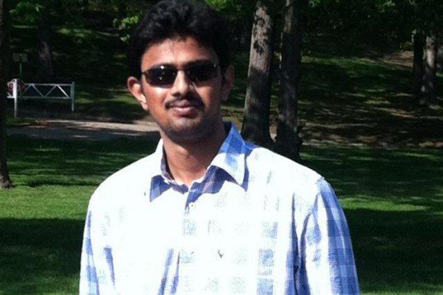 32 year old srinivas kuchibhotla was shot dead in kansas in an apparent hate crime photo gofundme page