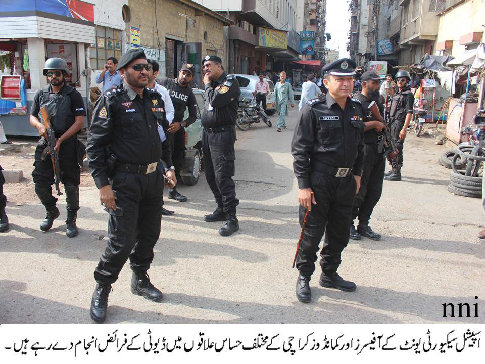 a file photo of special security unit of sindh police in karachi photo nni