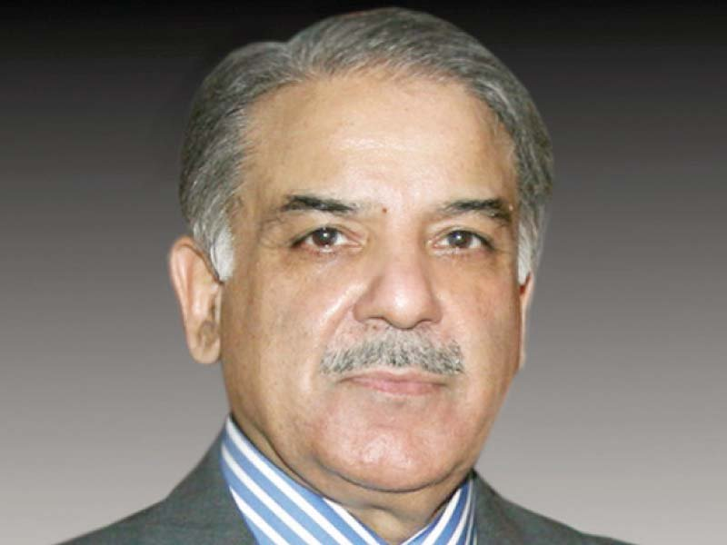 cm shehbaz sharif photo file