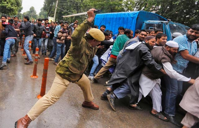 in a right to reply at unhrc in geneva pakistan questions india s unabated atrocities on defenceless kashmiris photo reuters