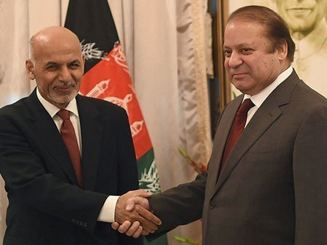 in this file photo afghan president ashraf ghani shakes hands with prime minister nawaz sharif photo afp