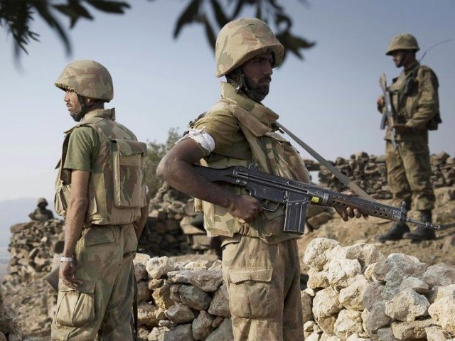 the ammunition was recovered during sanitisation of village in datta khel ispr says photo express file
