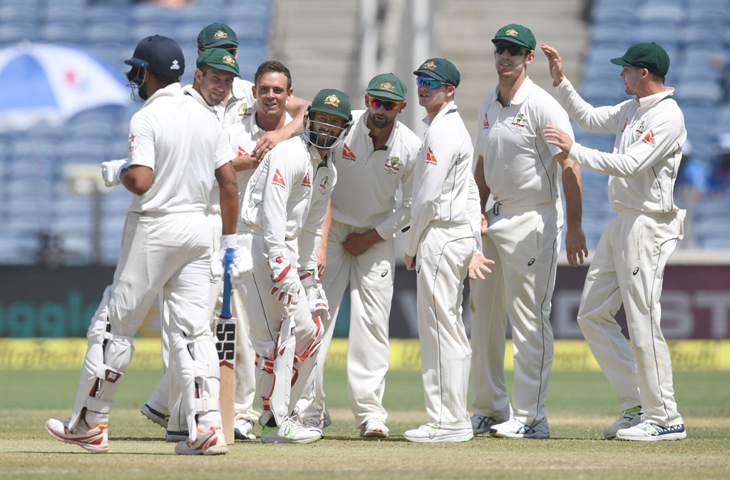 blown to smith ereens australia dominated india throughout the test and skipper smith is happy with the way they never let the pressure relent photo afp