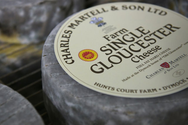 single gloucester cheese photo afp