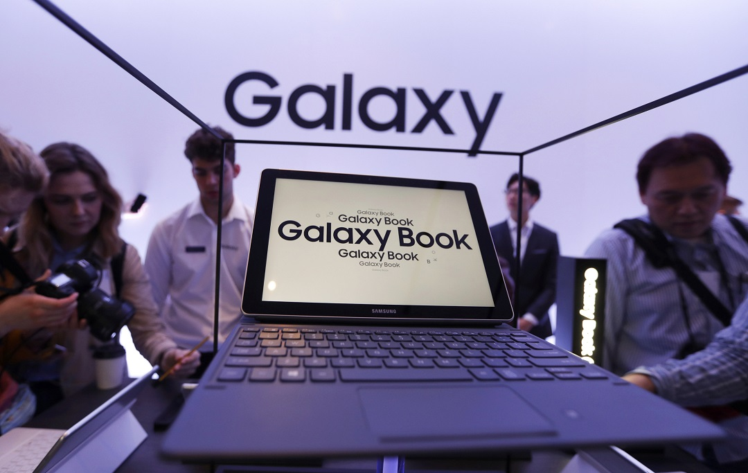 the galaxy tab s3 and the galaxy book were presented at the mobile world congress in barcelona photo reuters