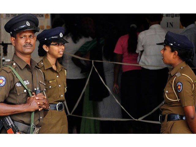 a file photo of sri lanka 039 s police personnel photo afp