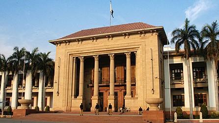 an exterior shot of the punjab assembly photo express