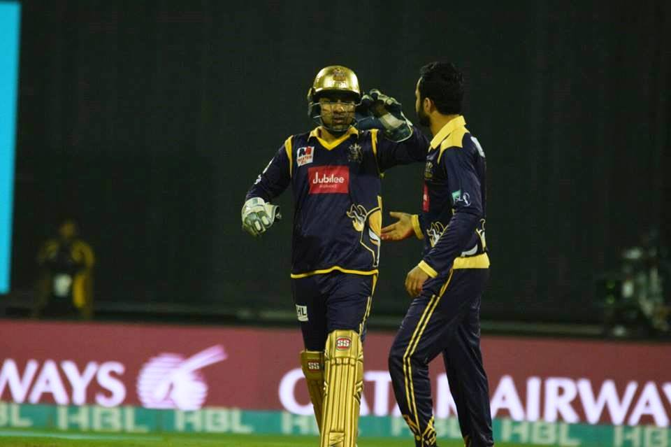 Nawaz bowled a superb last over to beat Peshawar by one run when seven were needed off just six balls. PHOTO COURTESY: PSL