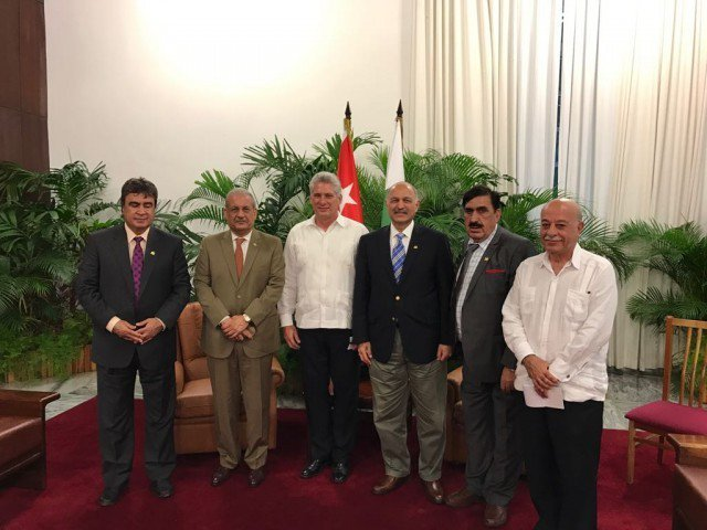 The Senate chairman also invited the president of the Cuban National Assembly to visit Pakistan