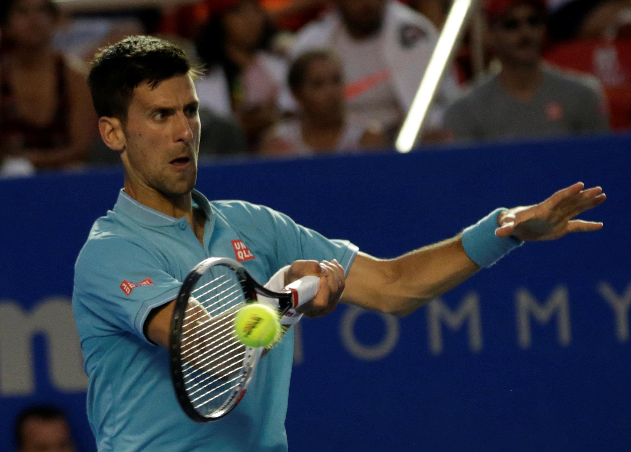 djokovic defeats klizan in straight sets at atp acapulco event photo reuters