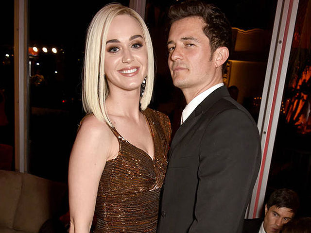 karty perry and orlando bloom at oscars after party on feb 26th photo e online