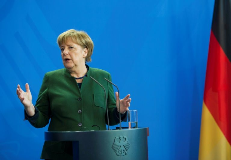 german chancellor angela merkel who faces elections in september has been under intense pressure to reduce the number of asylum seekers coming to germany photo afp