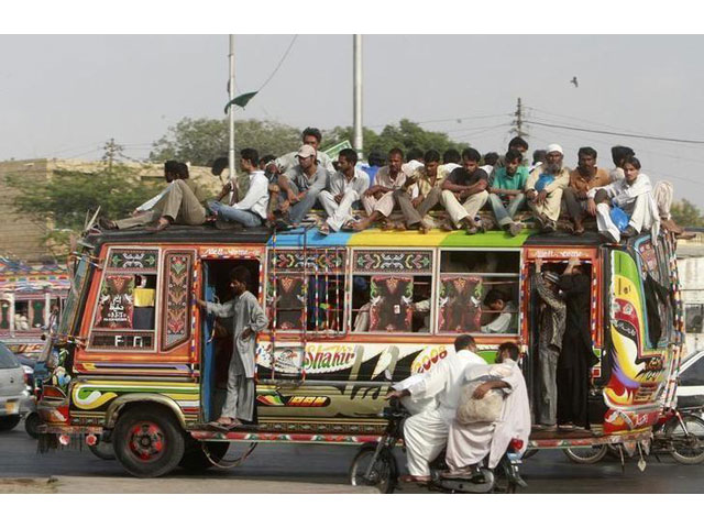 people travel on a bus in karachi on september 17 2008 photo reuters